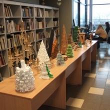 Skolēnu lietišķās mākslas Ziemassvētku darbu izstāde