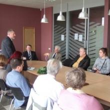 Tikšanās ar Augstākās Padomes deputātiem: J.Celmiņu, A.Jaunkļaviņu, V.Selecki
